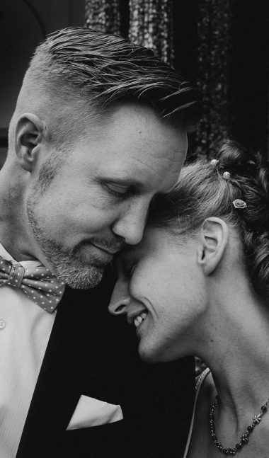 Wedding couple close up